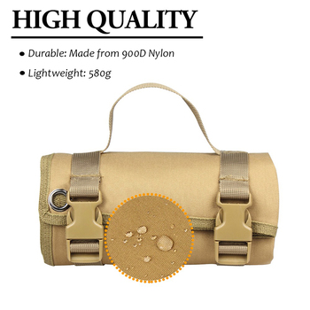 Tactical Roll-Up Shooting Mat Waterproof Lightweight Nylon Cloth Outdoor Hunting Molle Non-padded Mat for Rifle Gun Shotgun 2