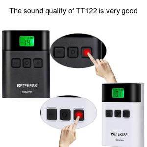 Image 4 - Беспроводная система туристического гида RETEKESS TT122, 1 передатчик + 10 приемников для церковной фабрики, тренировочный туристический гид, правительственная встреча