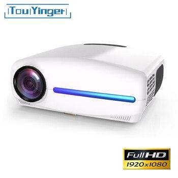 Touyinger s1080 C2 completa HD 1080 p HD LED proyector Android 9,0 Wifi Smart 4K opción casa teatro AC3 200 pulgadas con 4D digital Keyston