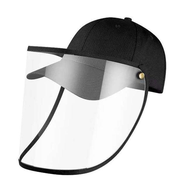 Anti Pollution Bacteria Visors Cap Removable Protective Cap Reusable Masks Anti-fog Hat Anti-UV Mask Sun Hat