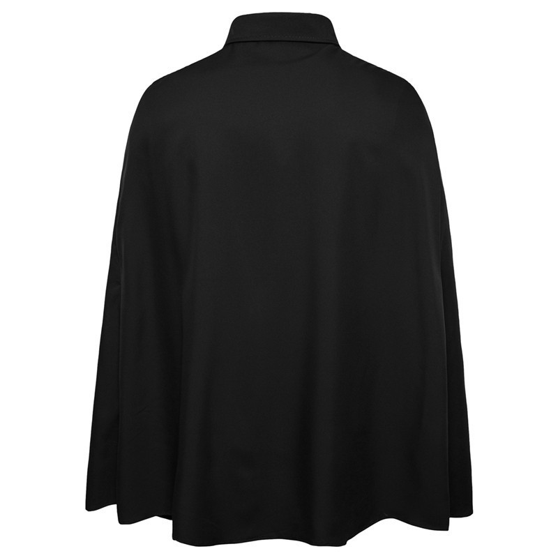 New Brand Fashion Mens Cloak Shirt Long Sleeve Slim Fit Casual Social Tuxedo Shirts Single Breasted Show Stage Camisa Hombre