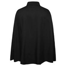 Nowa marka moda mężczyzna płaszcz koszula z długim rękawem Slim Fit Casual Social Tuxedo koszule pojedyncze piersi pokaż etap Camisa Hombre tanie tanio COTTON Poliester Pełna Skręcić w dół kołnierz Flare rękawem Suknem Na co dzień Stałe Shirts