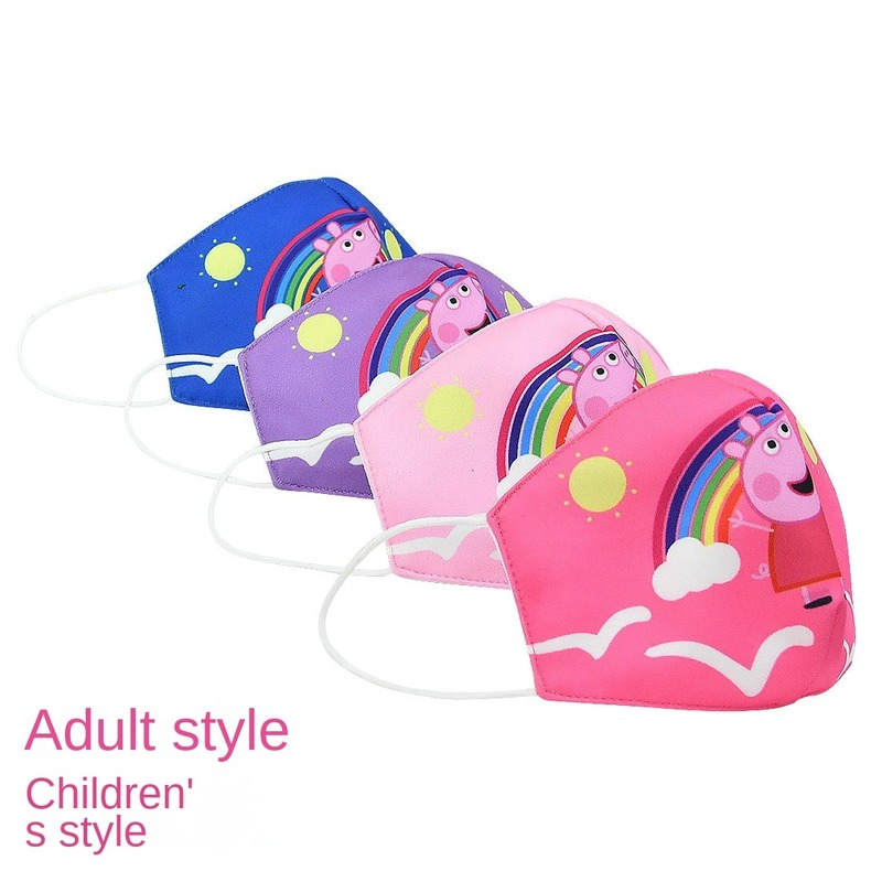 2020 New Peppa Pig Washable Face Breathing Children Adult Mask Cycling Anti Dust Environmental Mouth Mask Respirator Cotton Mask