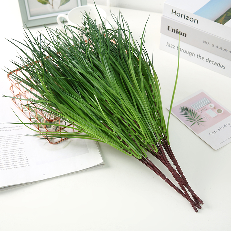 1pcs Artificial Plants Grass Green Grass Plastic Plant Decorative Flowers Garden Home Decoration Artificial Grass Fake Plant
