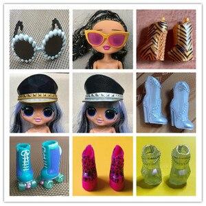 L.O.L. Сюрприз! OMG Оригинальные очки для кукол обувь головные уборы; Одежда декоры Lols кукла сменный белый бежевый коричневый, черный руки