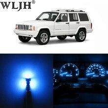 WLJH tablica przyrządów klastra prędkościomierz obrotomierz klastra 12V pełna dioda led zestawy oświetleniowe dla Jeep Cherokee XJ 1984-2001