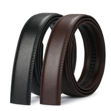 men #8217 s automatic buckle belts No Buckle Belt Brand Belt Men High Quality Male Genuine Strap Jeans Belt free shipping 3 5cm belts cheap Faux Leather Adult Casual 1114525866 Solid