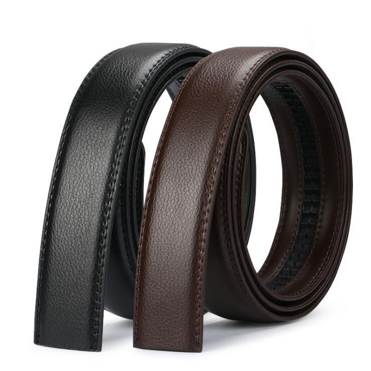 Men's Automatic Buckle Belts No Buckle Belt Brand Belt Men High Quality Male Genuine Strap Jeans Belt  Free Shipping 3.5cm Belts