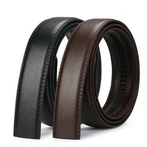 Jeans Belt Male Automatic Men's High-Quality Genuine Strap