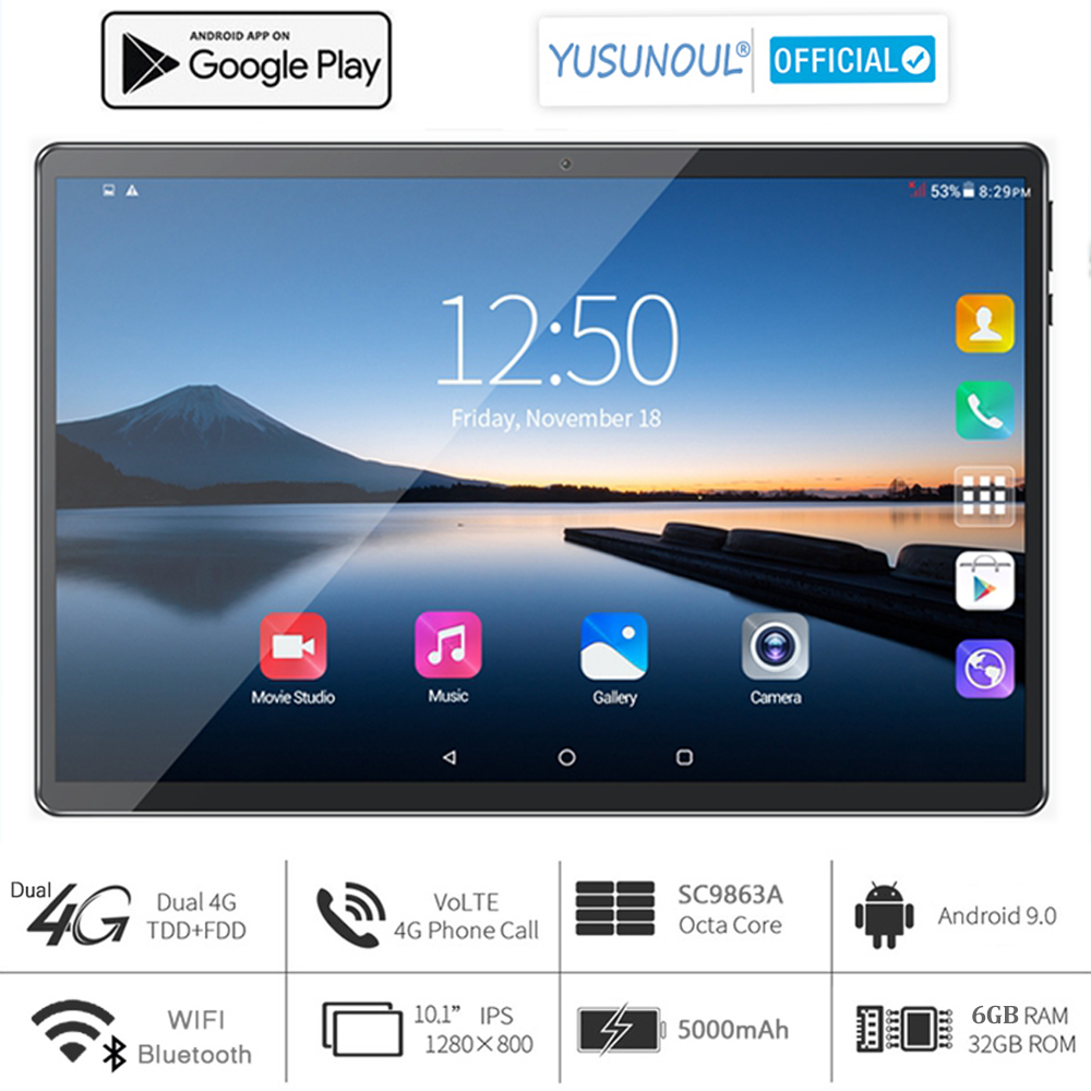 2021 Sales 6G Ram 10 inch Tablet pc 3G 4G LTE 1280*800 HD Android 9.0 Pie OS 8 Core Dual cameras телефонная панель для звонков