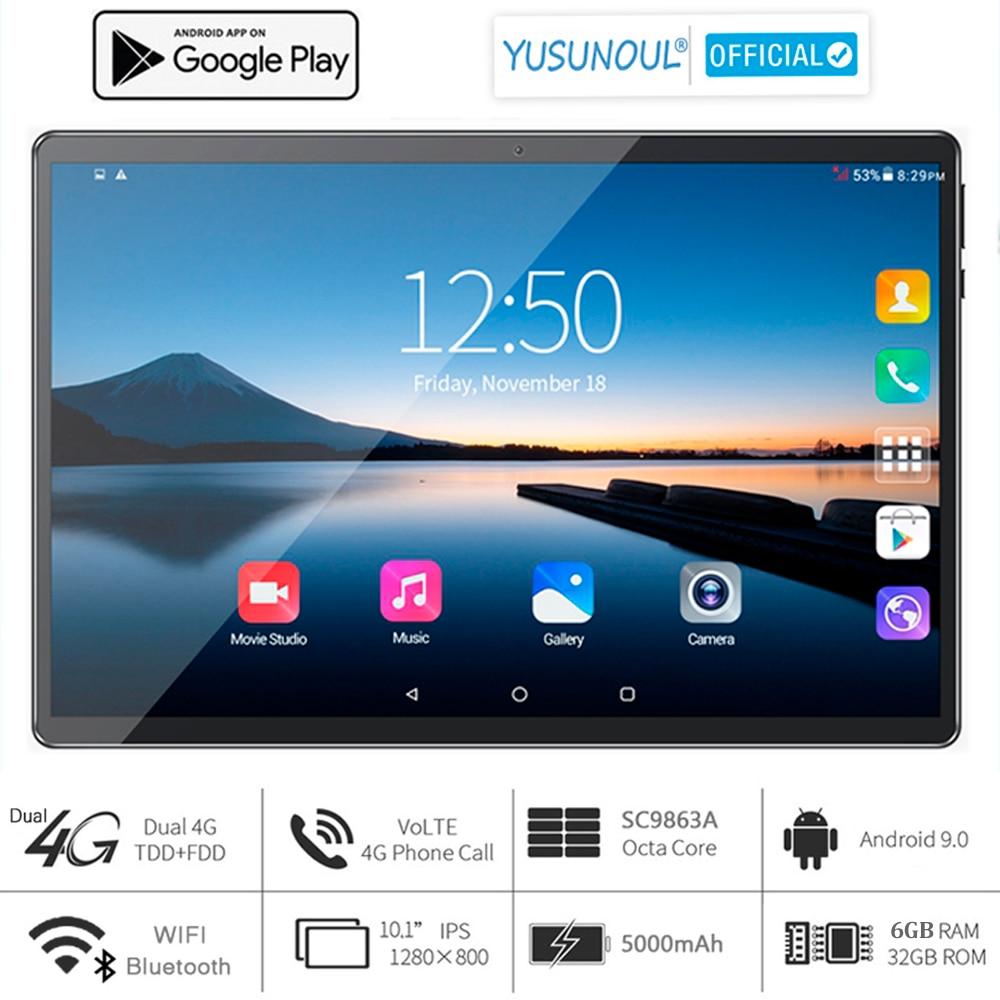 2021 vendas 6g ram 10 polegada tablet pc 5g wifi 4g lte 1280*800 hd android 9.0 torta 8 núcleo câmeras duplas