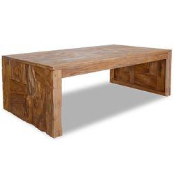Mesa de centro vidaXL madera de teca de erosión 110x60x38 cm