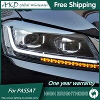 Headlights For VW Passat B7 2012 2016 Magotan DRL Daytime Running Lights Head Lamp LED Bi Xenon Bulb Fog Lights Car Accessories