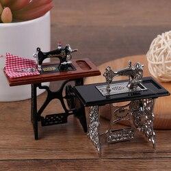 Детский Кукольный домик Декор миниатюрная мебель деревянная швейная машина с резьбой ножницы аксессуары для кукол домашние игрушки для де...