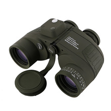 10x50 Binoculars Nautical Compass Waterproof Telescope with Night Vision HD Professional Optical Military Standard