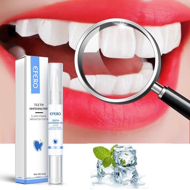 EFERO Sbiancamento Dei Denti Penna di Pulizia Siero Rimuovere La Placca Macchie Dentale Strumenti di Bianco Dei Denti Igiene Orale Sbiancamento Dei Denti Penna Dentes 5