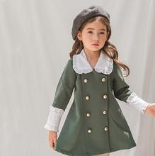Girls Dresses for Party and Wedding Girls Dress Long Sleeve In Kid Turn-down Collar Princess Dress Winter Children Party Clothes stylish cap sleeve turn down collar floral dress for girls