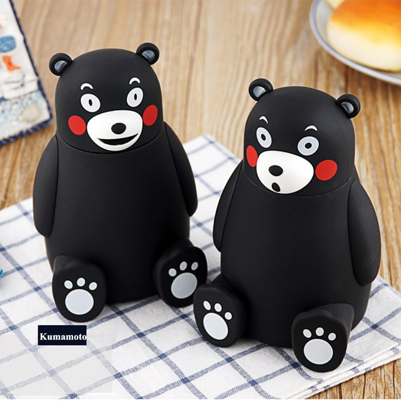 Image 5 - 280ml Cartoon Kumamon Bear Vacuum Cup Stainless Steel Thermo Mug Insulated Vacuum Flasks Thermoses Travel Drink Water Bottle-in Vacuum Flasks & Thermoses from Home & Garden on AliExpress