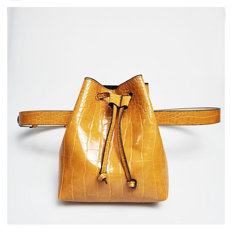Women Waist Packs PU Waist Bag Alligator Skin Fanny Pack Trouser Belt Bag Fashion Lady's Snake Belt Purse Bucket Bags