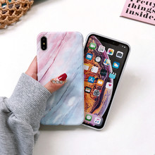 Redmi Note 9S marble ring holder case on for