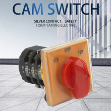Cam Switch 3 Position 3 Phases 20A Forward-Reverse Selector Rotary Changeover Main Switches Motor Control Circuit T-16EXF64D-3