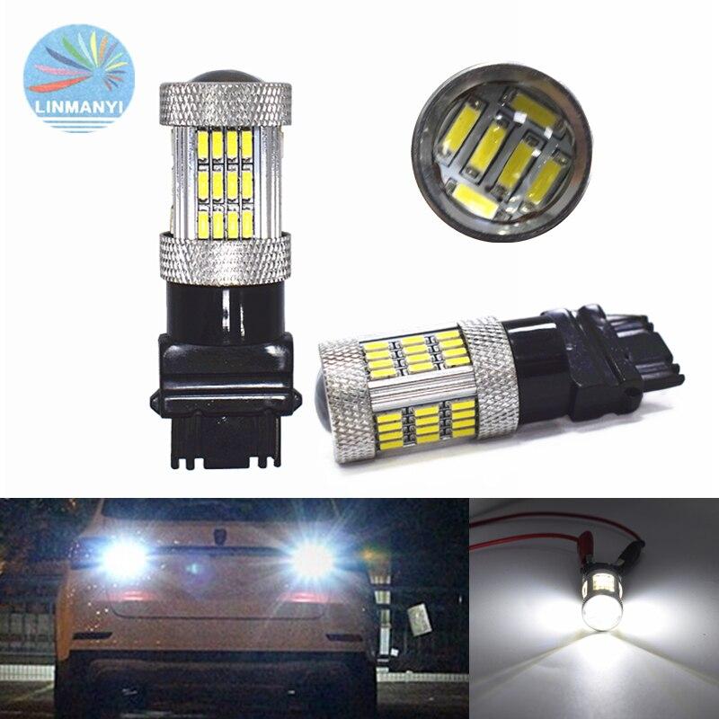 2 шт. водить автомобиль T25 3156 4014 54SMD белые высокие светильник тормозной Реверсивные огни светильник чудесный хвост светильник s вождения свет...