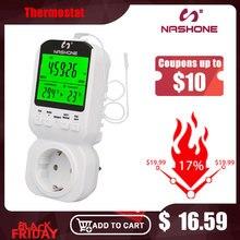 Nashone רב פונקצית טמפרטורת בקר תרמוסטט מתג טיימר שקע עם חיישן בדיקה מתכוונן טמפרטורת התרמוסטט