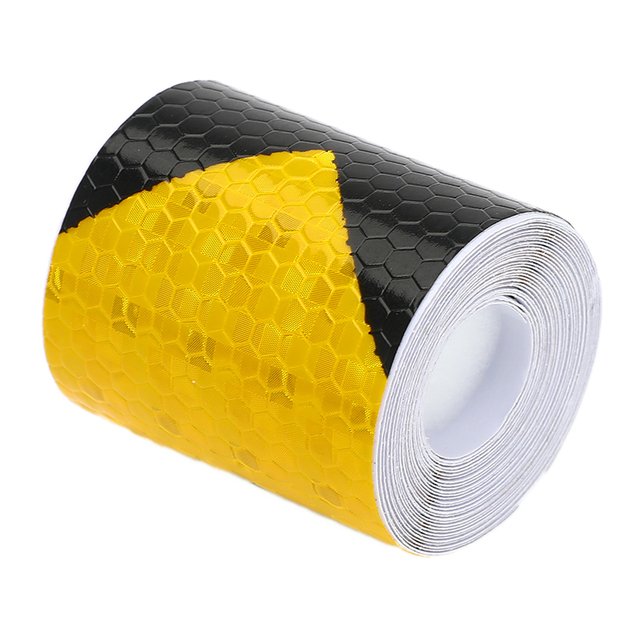 5cm*3m Self Adhesive Warning Tape Arrow Safety Mark Reflective Tape Stickers Car-styling Automobiles Motorcycle Reflective Film 3
