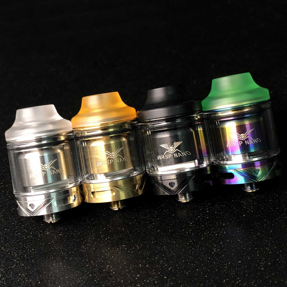 Vape Mini WASP NANO RTA Tank Atomizer 23mm 2ml Tank Single Coil With Top Refill VS 22mm 24mm