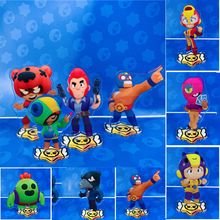 Large Brawl Stars Figure Model Card Acrylic Stand Figure Model Plate Holder Cake Topper Brawling Material Peripheral Action Toys
