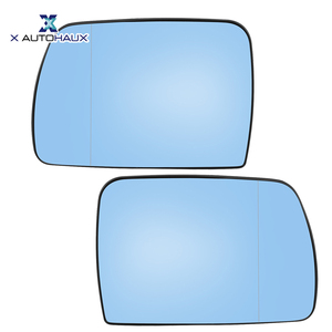 X Autohaux 1 Pair Car Side Mirror Glass With Backing Plate Heated for BMW X5 E53 2000-2006 For Land Rover Range Rover MK 02-04(China)