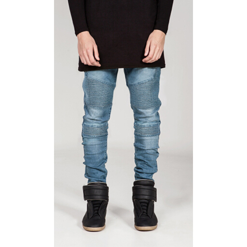 New Street wear Mens Ripped Biker Jeans  1