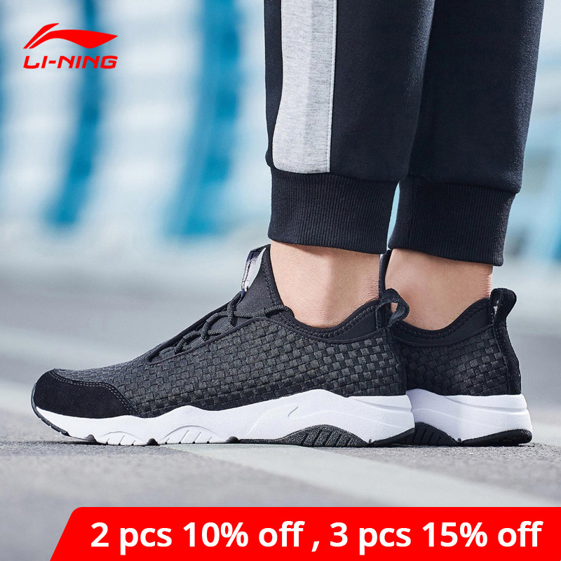 Li-Ning <font><b>Men</b></font> MARS Classic Lifestyle <font><b>Shoes</b></font> Textile Breathable Sneakers Light Comfort <font><b>LiNing</b></font> li ning Sport <font><b>Shoes</b></font> AGLN017 YXB136 image