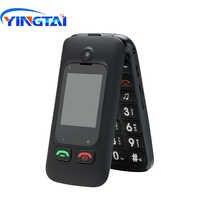 YINGTAI T22 GSM MTK gran botón superior teléfono Dual SIM Dual pantalla Flip funda de teléfono móvil para mayor de 2,4 pulgadas de la cubierta del teléfono móvil