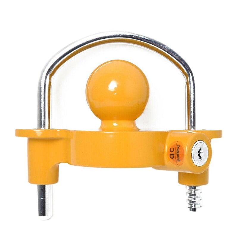 U-Type Trailer Hitch Coupler Lock Trailer Adjustable Anti-Theft Hitch Ball Lock
