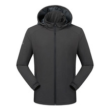 Men's plus fat XL breathable windproof solid color windbreaker spring and autumn models on all sides