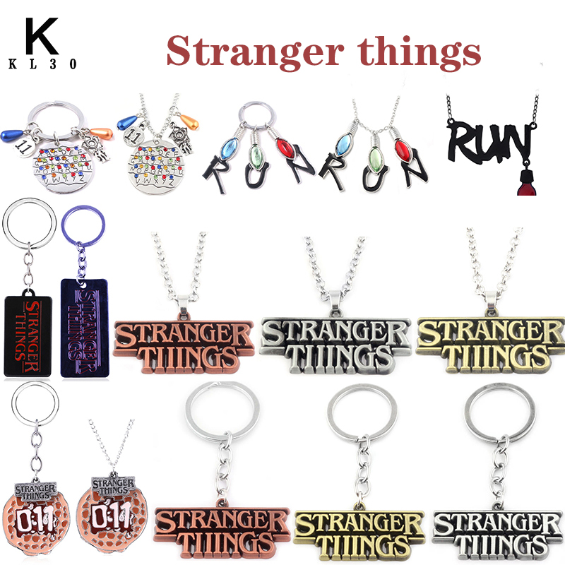 American Tv Show Stranger Things Keychain ABC Metal Pendant Keyring Women Man Fashion Jewelry Best Gift For Lovers Accessories image