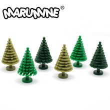 Marumineトウヒ木互換3471都市茎草の花市部分クラシックレンガ建設知育玩具