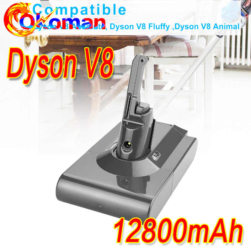 high capacity 21.6V 12800mAh For Dyson V8 Battery Vacuum Cleaner Tools Li ion High Capacity Replacement V8 Absolute V8 Animal