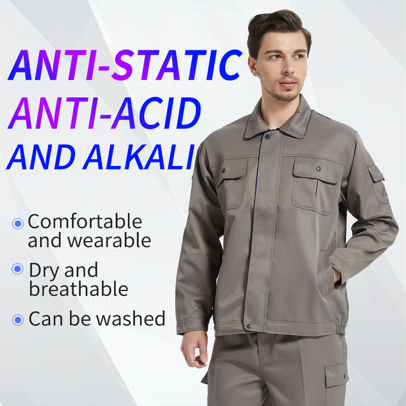 Acid Resistant Clothing WorkWear Chemical Uniform Protective Coverall Anti-Acid Reflective Strap Trousers Jacket