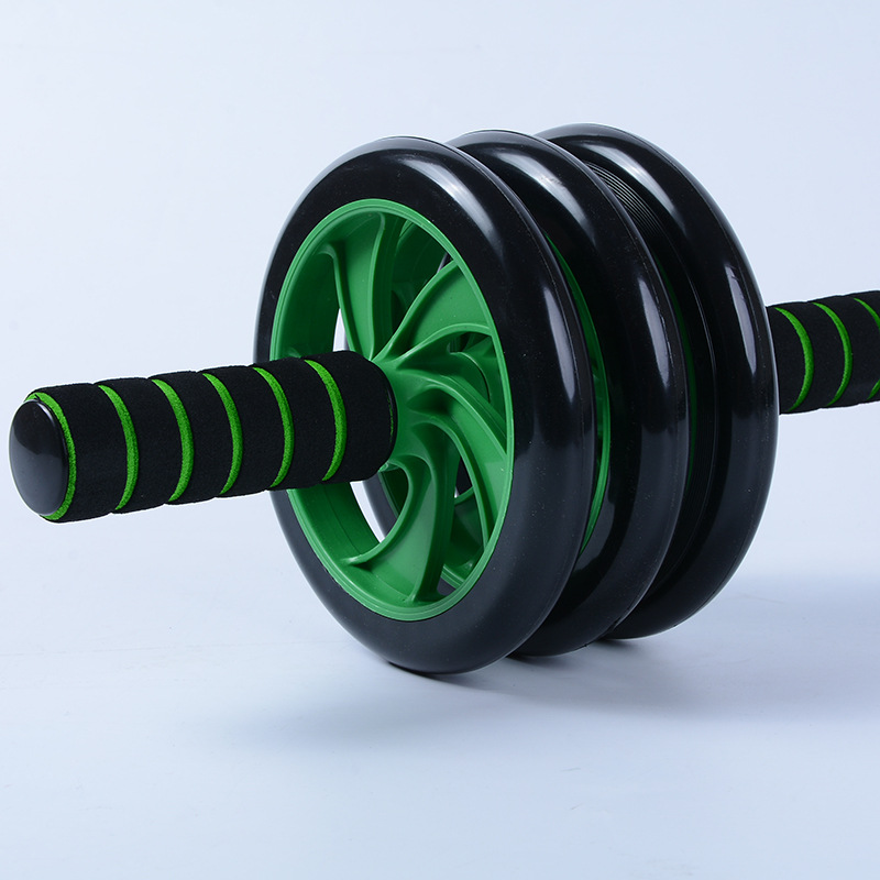Abdominal Wheel Three-Wheel Power Roller Mute Abdominal Wheel For Both Men And Women Fitness Equipment Material Waistcoat Line F