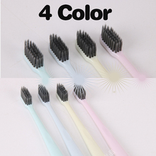 4PCS 8PCS Japanese Style Bamboo Charcoal Toothbrush Plain Small Head Super Soft HIAISB