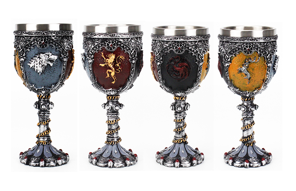 Game of Thrones Goblet Wine Glass Nemesis Now Sigil Wolf Head Goblet Mother's Days Father's Days Halloween GOT Fan Gift 200ml