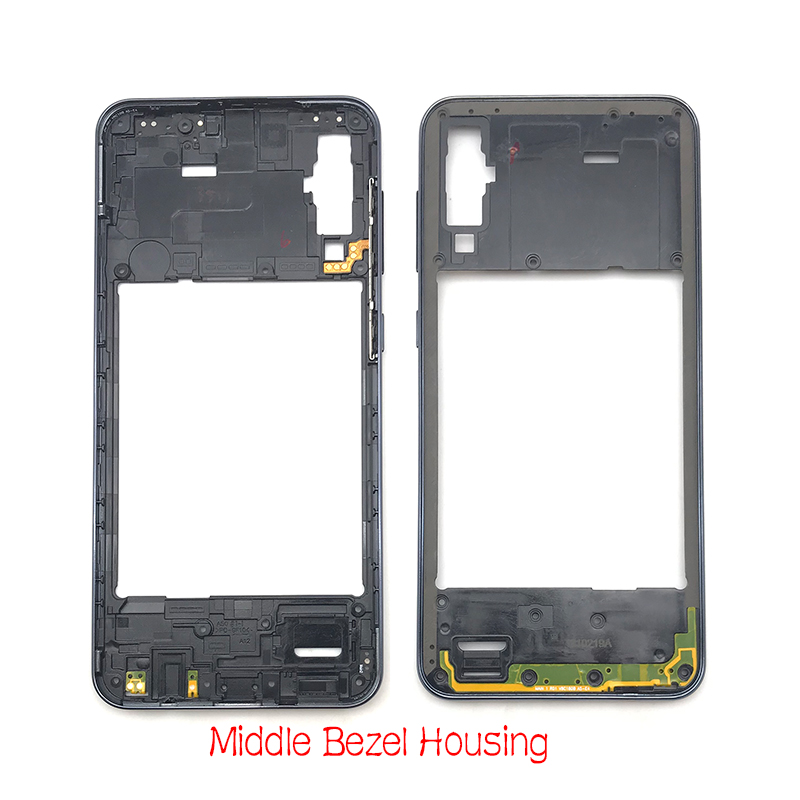 Front Housing LCD Frame Bezel Plate&Middle Frame Bazel For Samsung A50  A505F Back Plate Housing Panel&Back Cover