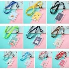 Lanyard Badge Id-Card-Holder Retractable-Reel Plastic Case Neck-Strap Cartoon 20 Bus