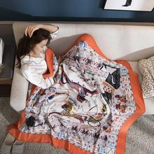 2019 New Rectangle  Raschel Microfiber Fabric Cartoon Blanket Travel Sleep Wearable Grade A for Winter