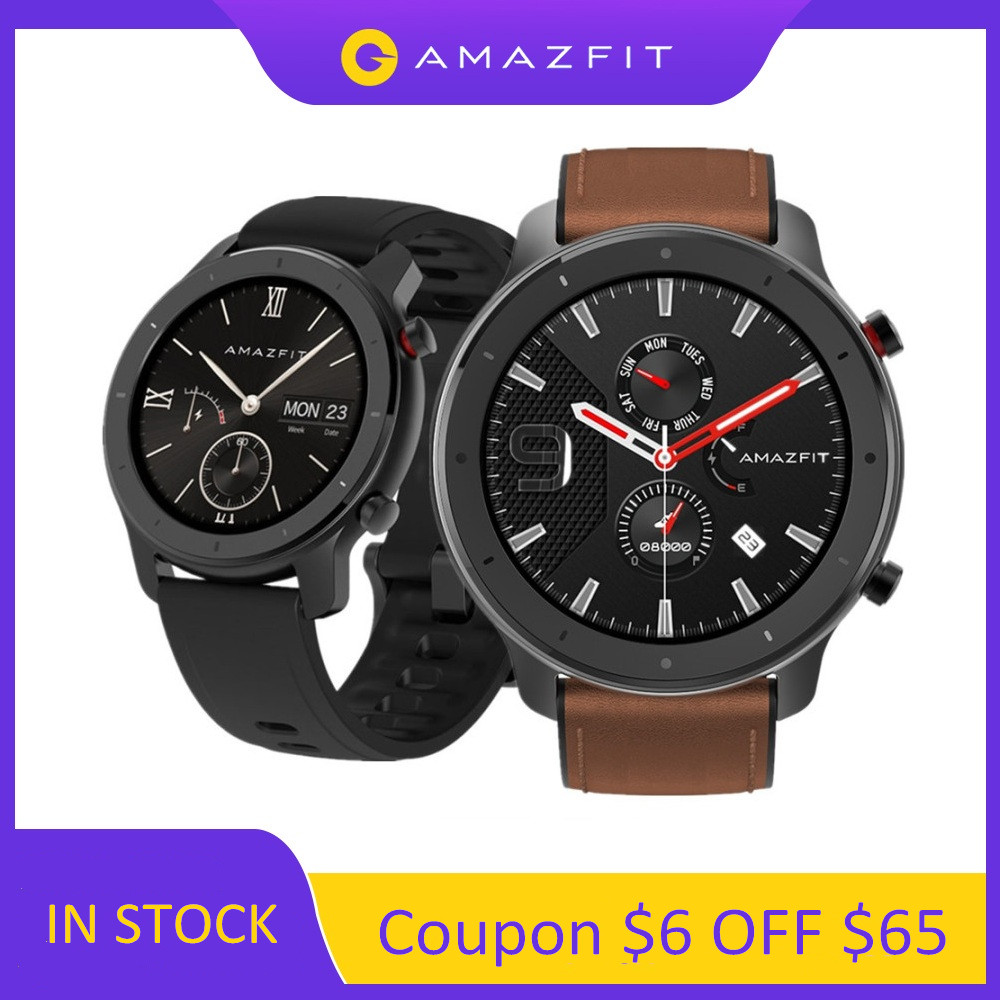 Amazfit Smart-Watch Ios AMOLED Global-Version Android Waterproof 12 for 5ATM 24-Days-Battery