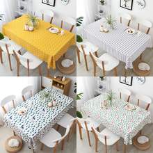 Linen Cotton Tablecloth Nordic INS Home Modern Simple Dining Table Cover Rectangular Coffee Tea Party Decorations Table Cloth