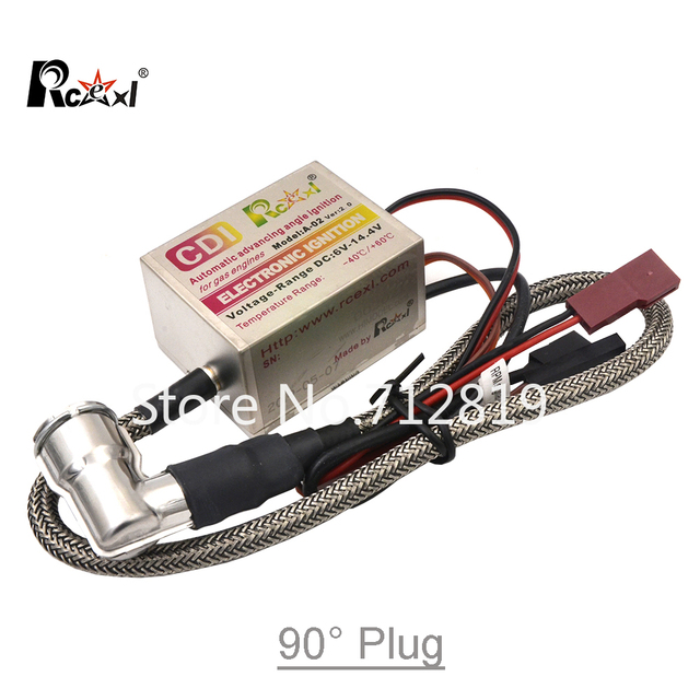 Rcexl Ignition CDI CM6-10mm 90 or 120 Degree Spark Plug DLE Gas Petrol Engine for DLE20/DLE30/DLE55/CRRCpro GP26R/GP50R/DLE20RA