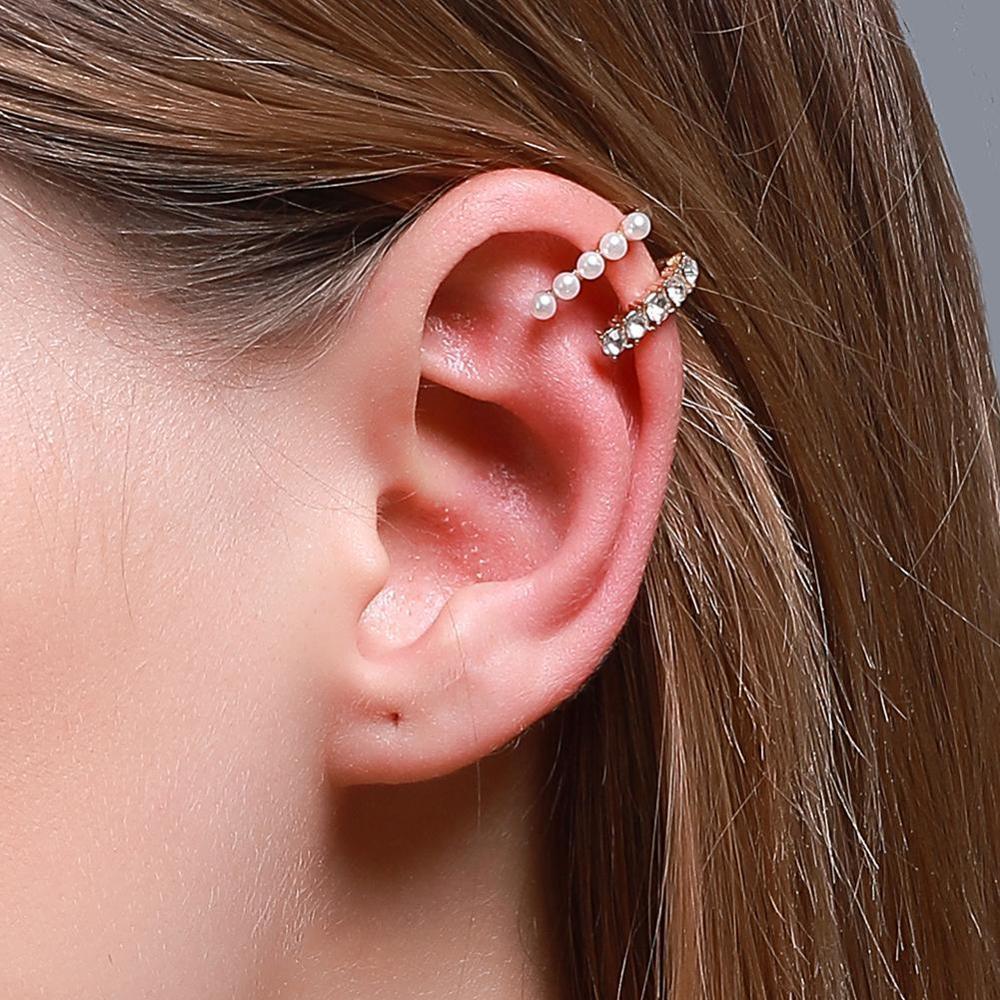 1pc Women Pearl Ear Cuff Earring Bohemian Natural Freshwater Circle Small Clip on Earring No Piercing Fake Cartilage Earring|Clip Earrings| - AliExpress